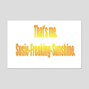 Susie-Freaking-Sunshine Mini Poster Print