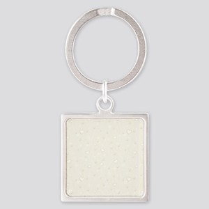 Set with Pearls Square Keychain