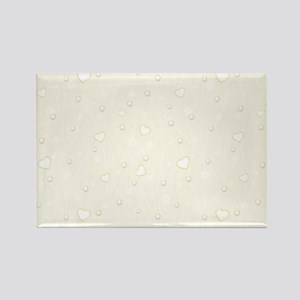 Set with Pearls Rectangle Magnet