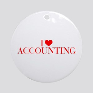 I love Accounting-Bau red 500 Ornament (Round)