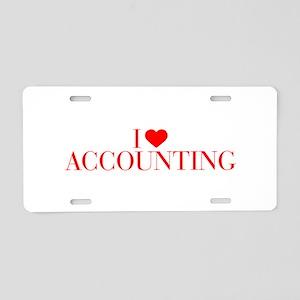 I love Accounting-Bau red 500 Aluminum License Pla
