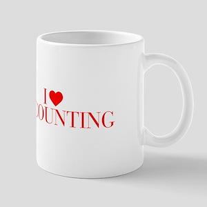 I love Accounting-Bau red 500 Mugs