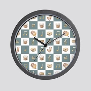 Learning the Drums Wall Clock