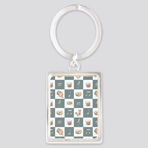Learning the Drums Portrait Keychain