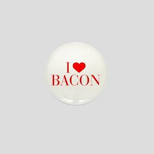 I love Bacon-Bau red 500 Mini Button