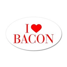 I love Bacon-Bau red 500 Wall Decal