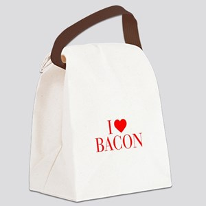 I love Bacon-Bau red 500 Canvas Lunch Bag