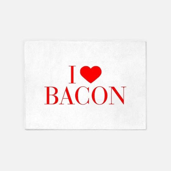 I love Bacon-Bau red 500 5'x7'Area Rug