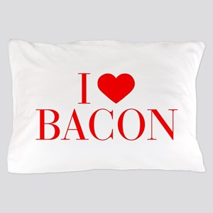 I love Bacon-Bau red 500 Pillow Case