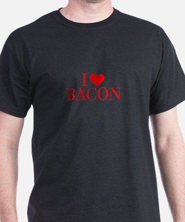 I love Bacon-Bau red 500 T-Shirt