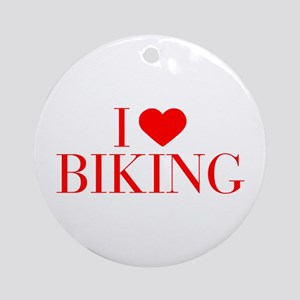 I love Biking-Bau red 500 Ornament (Round)