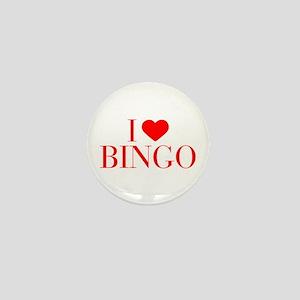 I love Bingo-Bau red 500 Mini Button