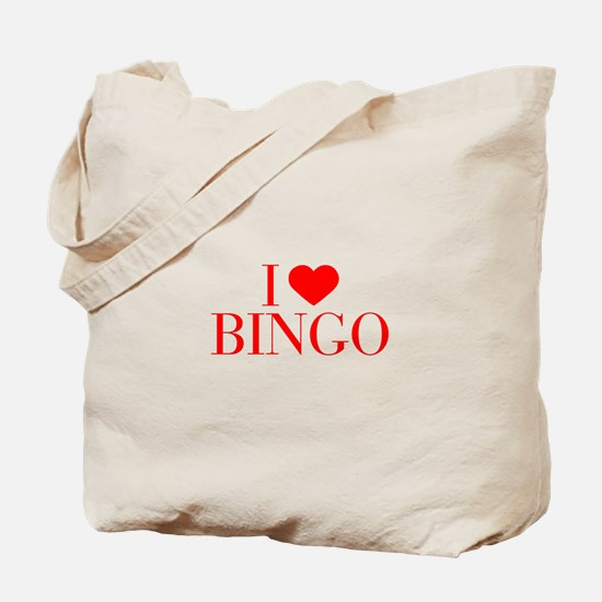 I love Bingo-Bau red 500 Tote Bag