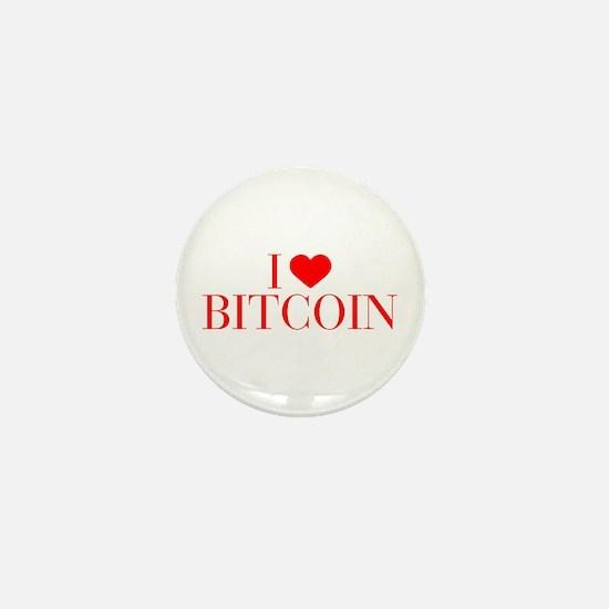 I love Bitcoin-Bau red 500 Mini Button