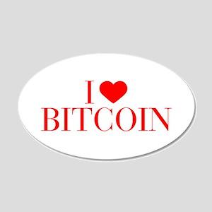 I love Bitcoin-Bau red 500 Wall Decal