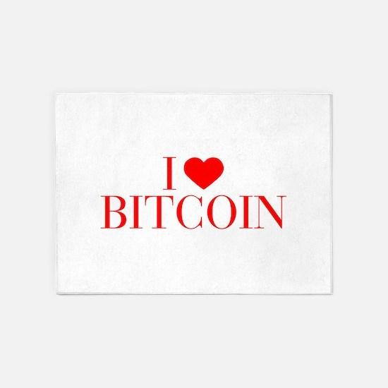 I love Bitcoin-Bau red 500 5'x7'Area Rug
