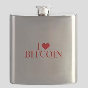 I love Bitcoin-Bau red 500 Flask