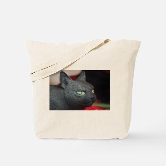 Imposing model cat Tote Bag