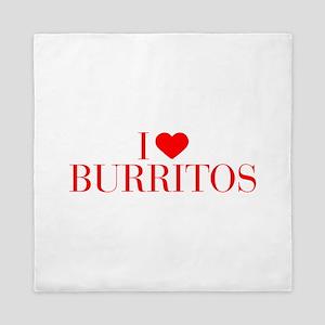 I love Burritos-Bau red 500 Queen Duvet