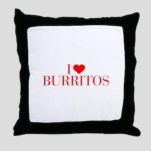 I love Burritos-Bau red 500 Throw Pillow