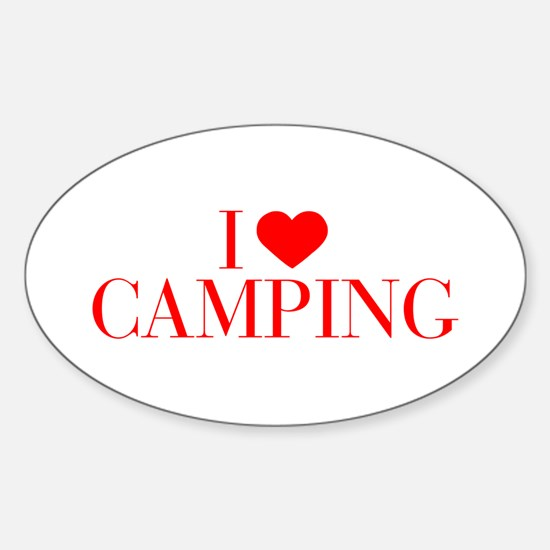 I love Camping-Bau red 500 Decal