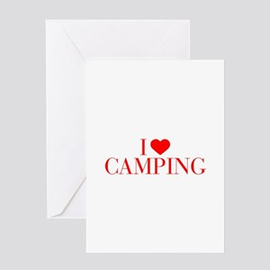 I love Camping-Bau red 500 Greeting Cards