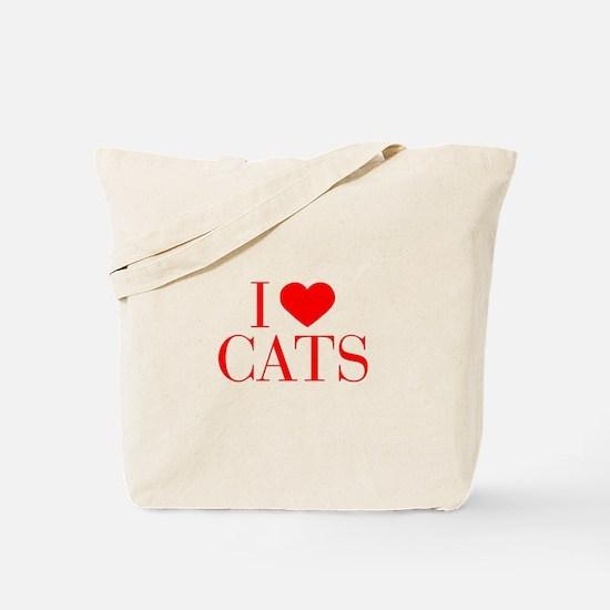 I love Cats-Bau red 500 Tote Bag