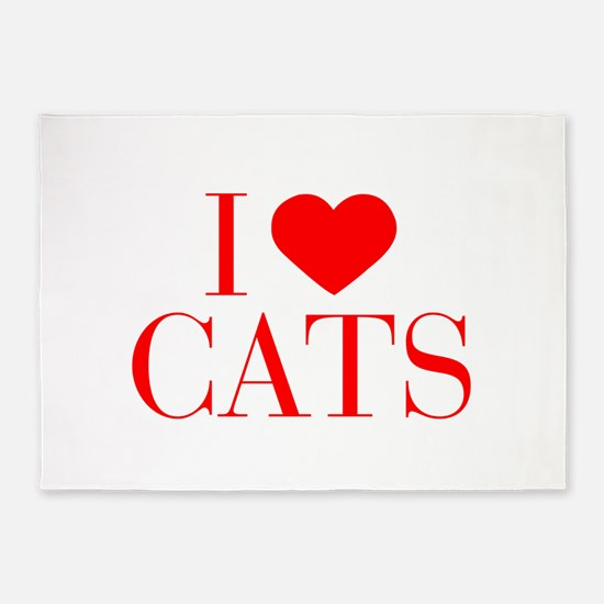 I love Cats-Bau red 500 5'x7'Area Rug