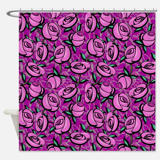 Close Roses Shower Curtain