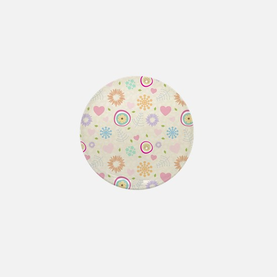 Scattered Blooms Mini Button