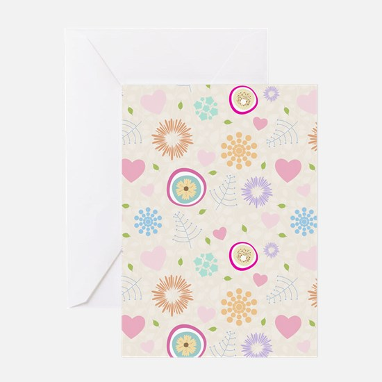 Scattered Blooms Greeting Card