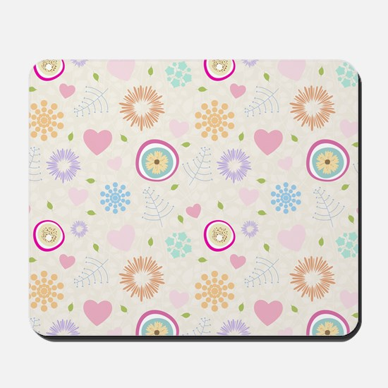 Scattered Blooms Mousepad