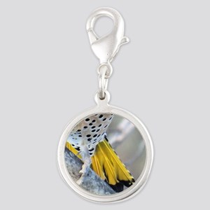 Yellow Tail Silver Round Charm