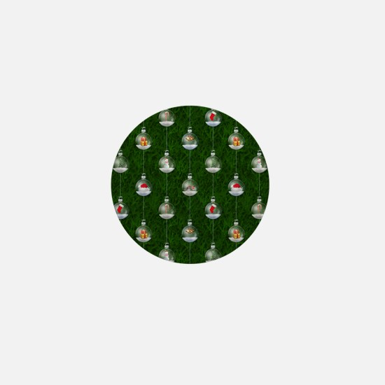 Evergreen Snowglobes Mini Button