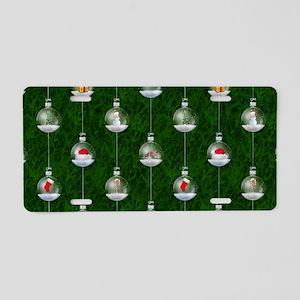 Evergreen Snowglobes Aluminum License Plate