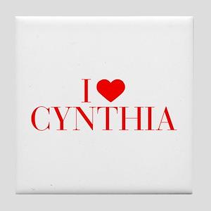 I love CYNTHIA-Bau red 500 Tile Coaster