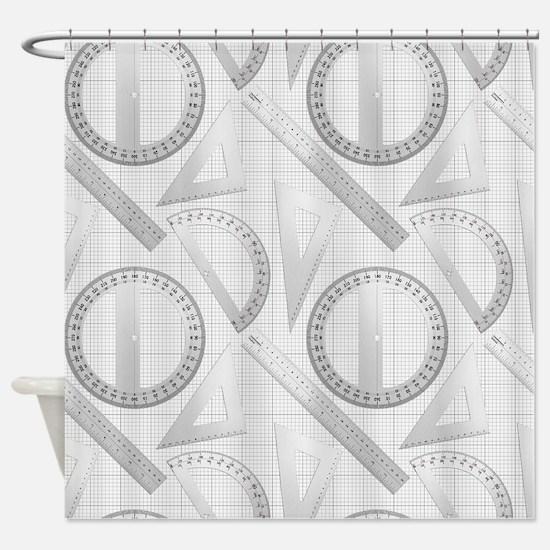 Geometry Student Shower Curtain