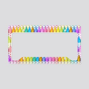 Crayon Ranks License Plate Holder