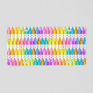 Crayon Ranks Aluminum License Plate