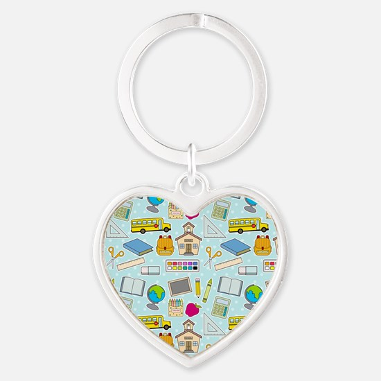 Simple Lessons Heart Keychain