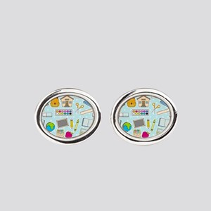 Simple Lessons Oval Cufflinks