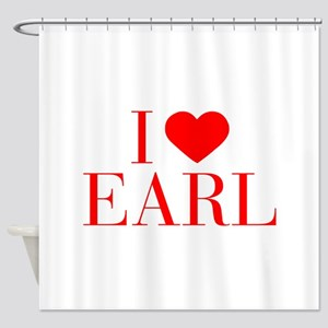 I love EARL-Bau red 500 Shower Curtain