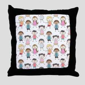 School Kids Throw Pillow