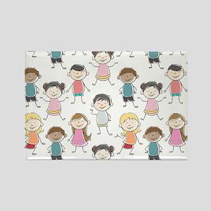 School Kids Rectangle Magnet