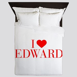 I love EDWARD-Bau red 500 Queen Duvet