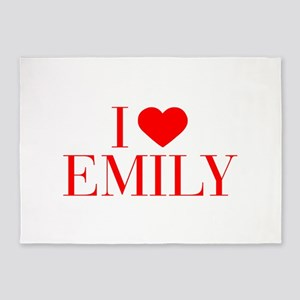 I love EMILY-Bau red 500 5'x7'Area Rug