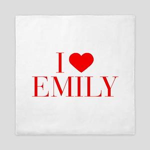 I love EMILY-Bau red 500 Queen Duvet