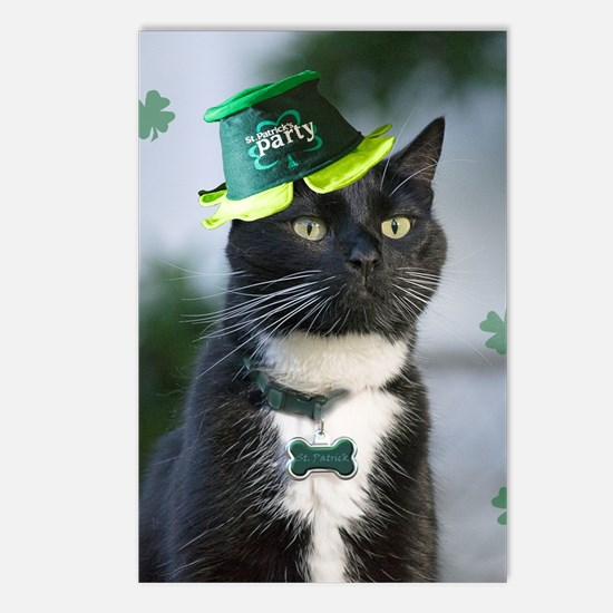 St. Patrick kitty Postcards (Package of 8)