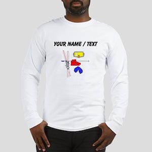 Custom Skiing Equipment Long Sleeve T-Shirt