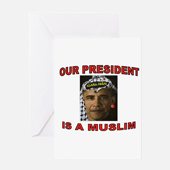 OBAMA THE MUSLIM Greeting Cards